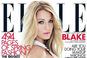 Blake Lively en couverture du magazine ELLE de mars 2012 (photos)
